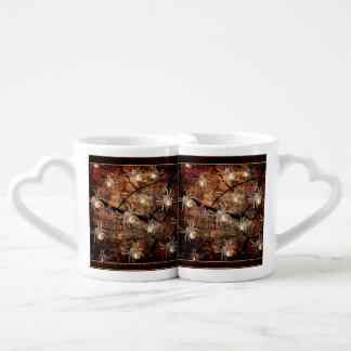 Spiders In Tree Stump Coffee Mug Set