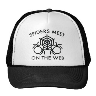 Spiders Meet On The Web Trucker Hat