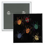 Spiders 'N Patterns 2 Inch Square Button