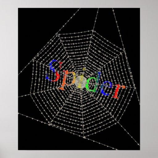Spiders net print