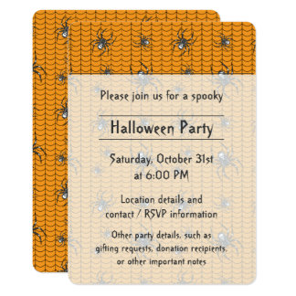 Spiders on Parade Party Invitation