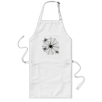 SPIDERS ON WEB LONG APRON