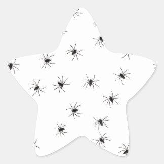 Spiders Star Sticker