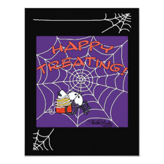 """Spiders Sweet Catch 4.25"""" X 5.5"""" Invitation Card"""