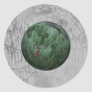 Spiders Web 3D Envelope Seal Classic Round Sticker