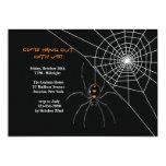 Spider's Web Halloween Invitation
