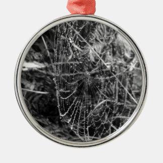 Spiders Web Metal Ornament