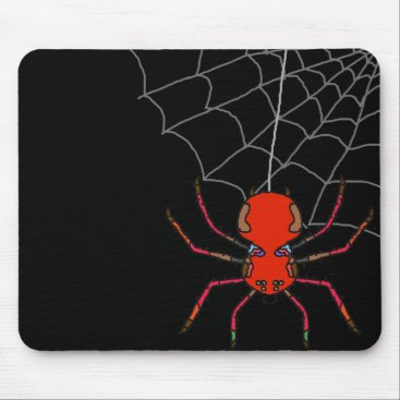 Halloween Themed Spider's Web Mouse Pad
