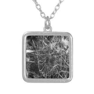 Spiders Web Silver Plated Necklace