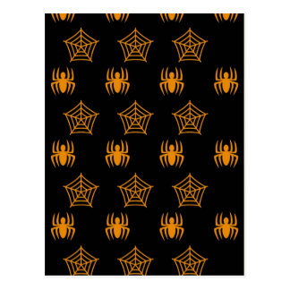 Spiders Webs Stationary for Halloween Postcard