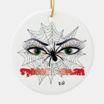 Spiders - woman/ornamentation Double-Sided ceramic round christmas ornament