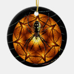 SpidersBall Double-Sided Ceramic Round Christmas Ornament