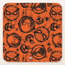Spiderverse Graffiti Pattern Square Paper Coaster