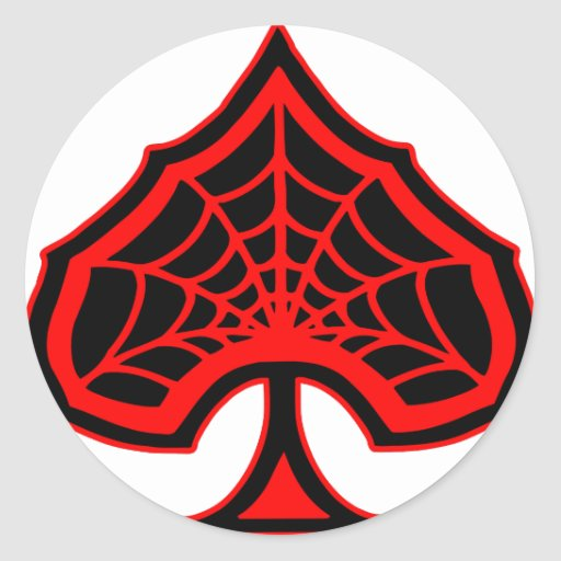 Spiderweb Ace Of Spades Stickers