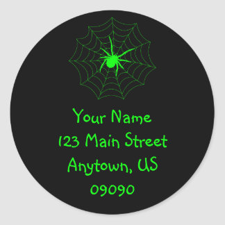 Spiderweb Address Label (Green / Black)