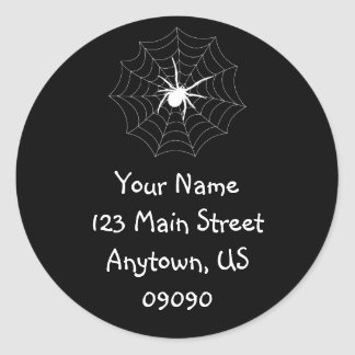 Spiderweb Address Label (White / Black)