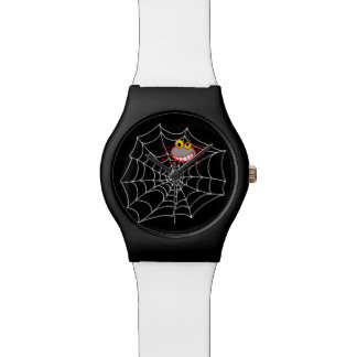 Spiderweb and a little spider wrist watches
