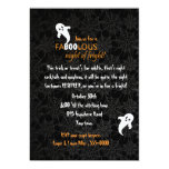 Spiderweb and Ghosts Halloween Party Custom Invite