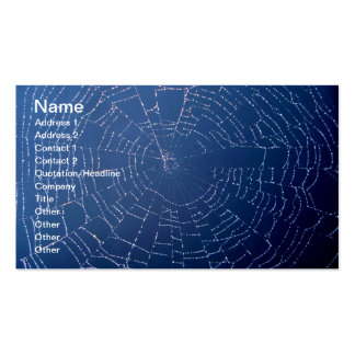 Spiderweb Business Cards