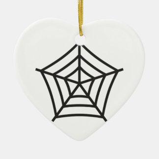Spiderweb Ceramic Ornament