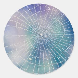 Spiderweb Classic Round Sticker
