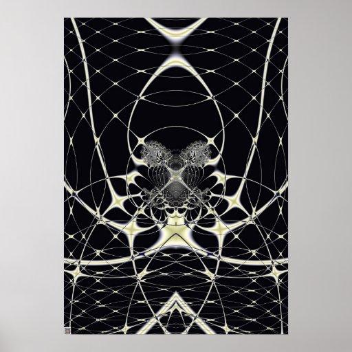 Spiderweb de oro impresiones