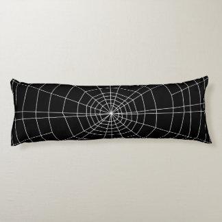 spiderweb en negro cojin cama
