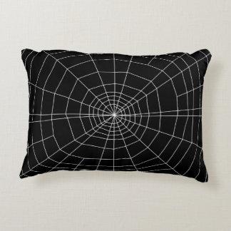 spiderweb en negro cojín decorativo