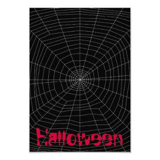 """spiderweb en negro invitación 3.5"""" x 5"""""""
