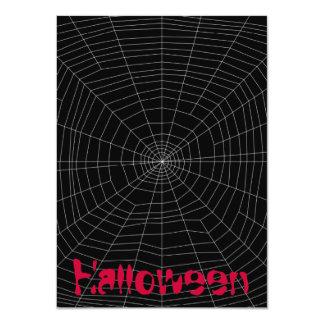"""spiderweb en negro invitación 4.5"""" x 6.25"""""""