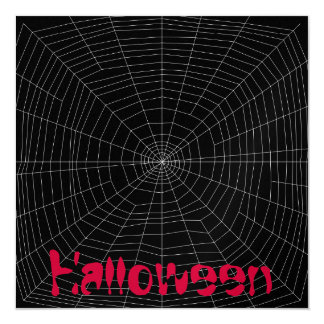 """spiderweb en negro invitación 5.25"""" x 5.25"""""""