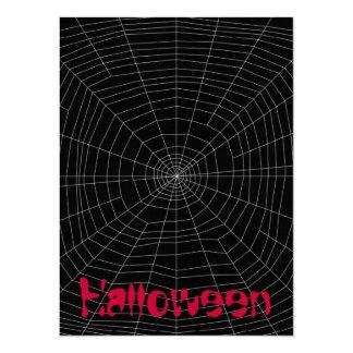 """spiderweb en negro invitación 5.5"""" x 7.5"""""""