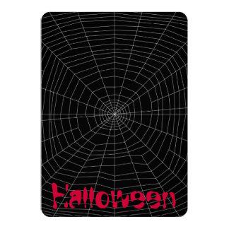 """spiderweb en negro invitación 5"""" x 7"""""""