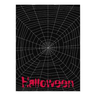 """spiderweb en negro invitación 6.5"""" x 8.75"""""""