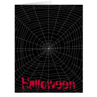 spiderweb en negro tarjeta de felicitación grande