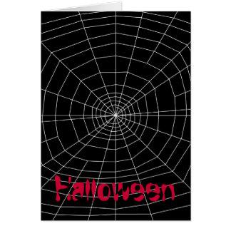 spiderweb en negro tarjeta pequeña