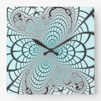 Spiderweb Fractal Wall Clock
