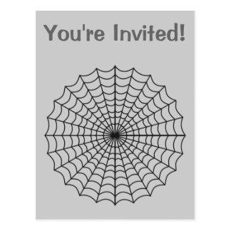 Spiderweb frecuentó Halloween Postal