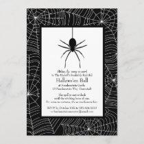 Spiderweb Halloween Party Invitation