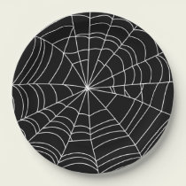 """Spiderweb Halloween Party Plate, 9"""" Paper Paper Plate"""