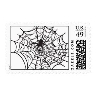 Spiderweb Halloween Postage