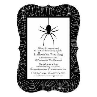 Spiderweb Halloween Wedding Invitation