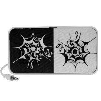 Spiderweb - hand drawn artwork mini speaker