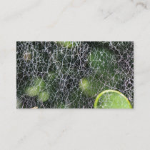 Spiderweb Macro Green Business Card