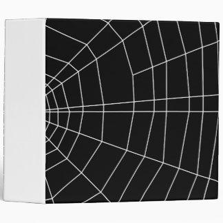 spiderweb on Black 3 Ring Binder