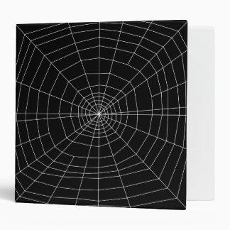 spiderweb on Black Binder