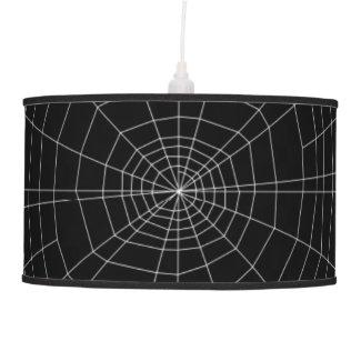 spiderweb on Black Ceiling Lamp