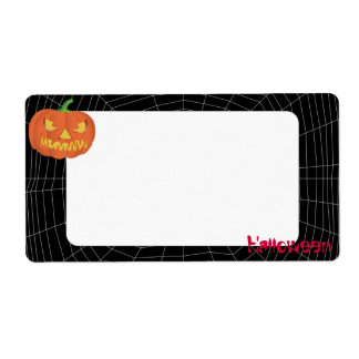 spiderweb on Black Personalized Shipping Label