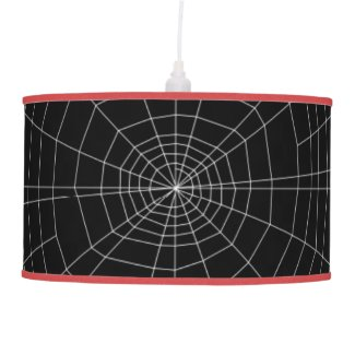 spiderweb on Black Pendant Lamp