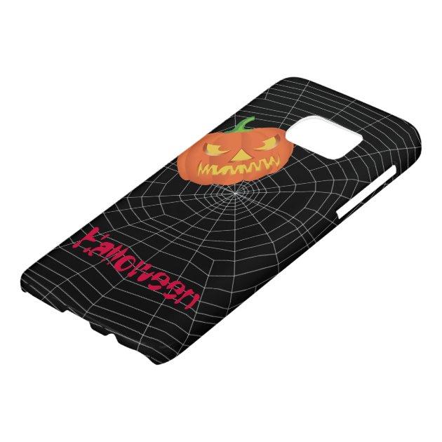 spiderweb on Black Samsung Galaxy S7 Case